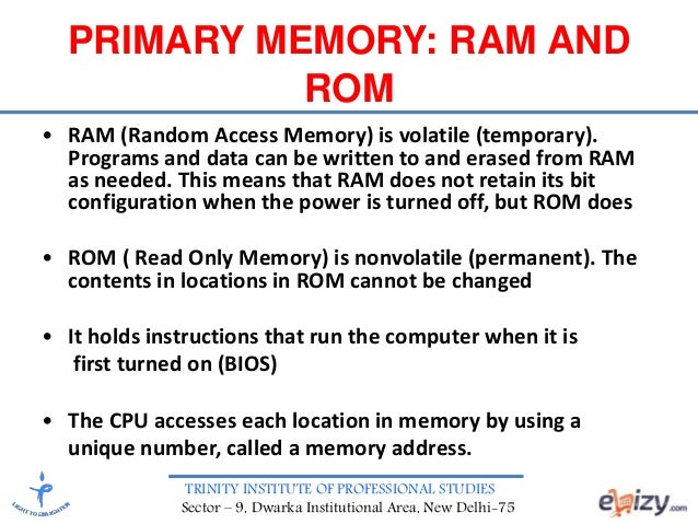 Computer Memory and Storage Devices