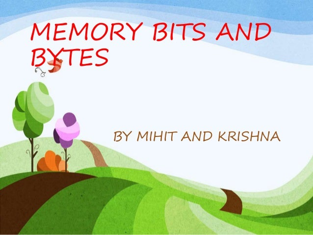 MEMORY BITS AND BYTES BY MIHIT AND KRISHNA