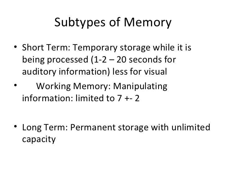 Memory & cvlt