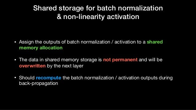 Memory efficient pytorch