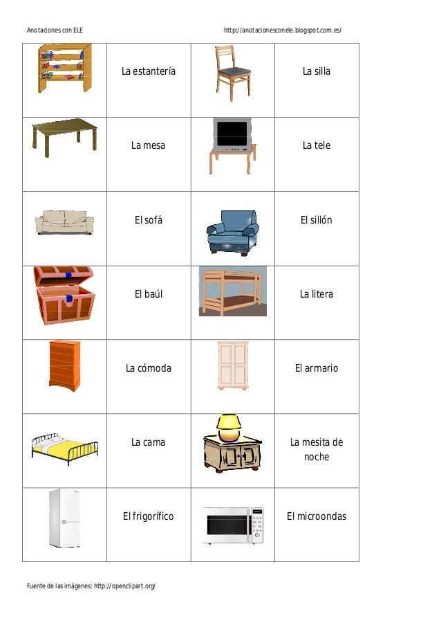Memory la casa for Muebles de la casa en ingles