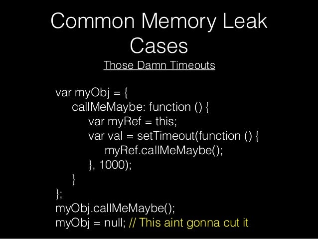 Javascript Memory leaks and Performance & Angular