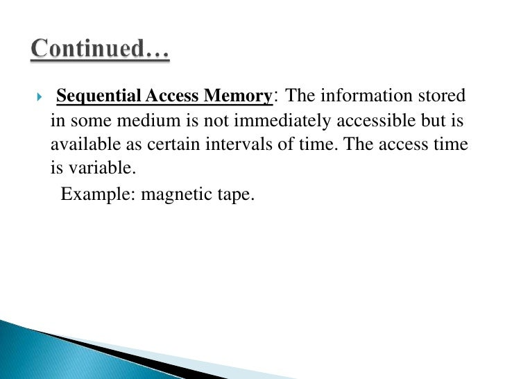    Read only memory: It is non-volatile memory, which retains the data even when power is removed from this memory. Progr...
