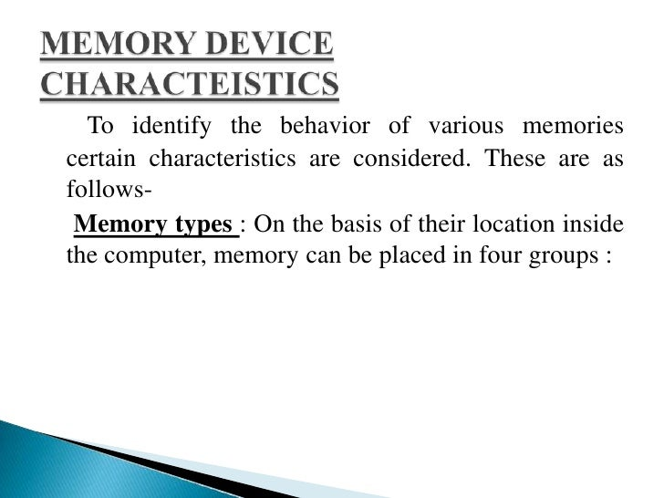    CPU Registers: these high speed registers in the    CPU work as memory for temporary storage of    instruction and dat...