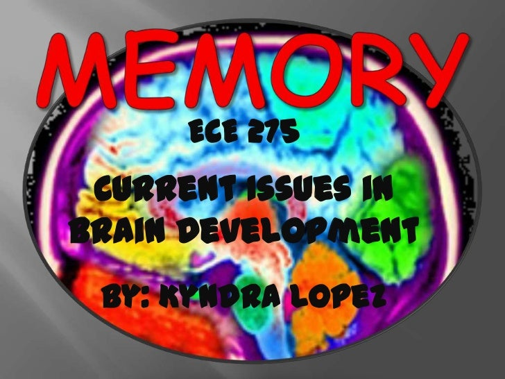 ECE 275 Current Issues inBrain Development by: Kyndra Lopez