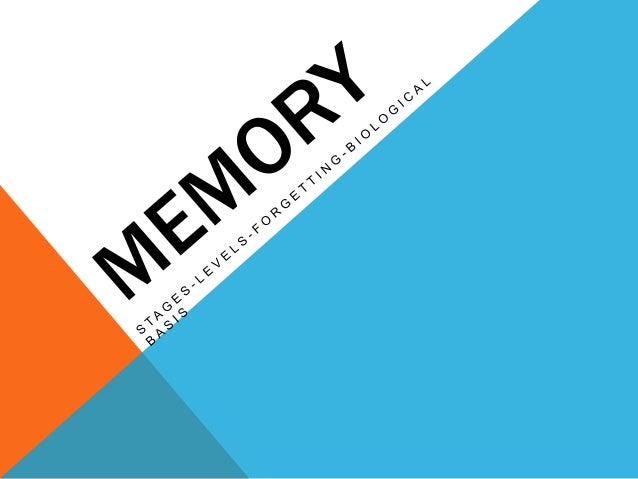 MEMORY  •Memory is the ability to retain information  over time through 3 processes: encoding ,  storing & retrieving