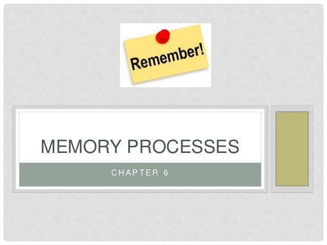 C H A P T E R 6 MEMORY PROCESSES