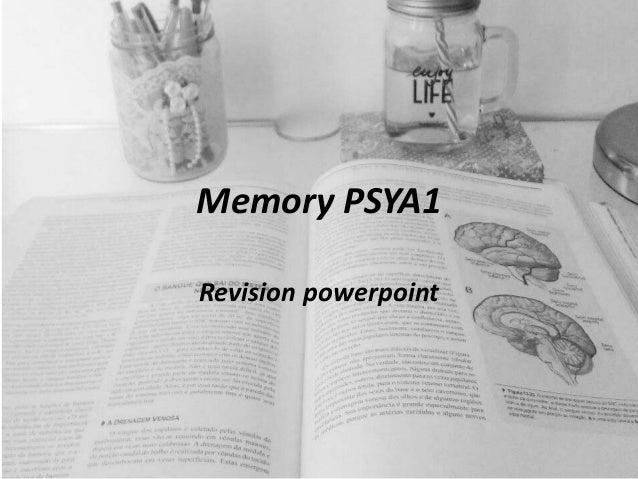 Memory PSYA1 Revision powerpoint