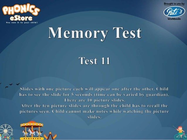 Marrs Preschool Bee - Memory Tests - A - Study material for Oral round