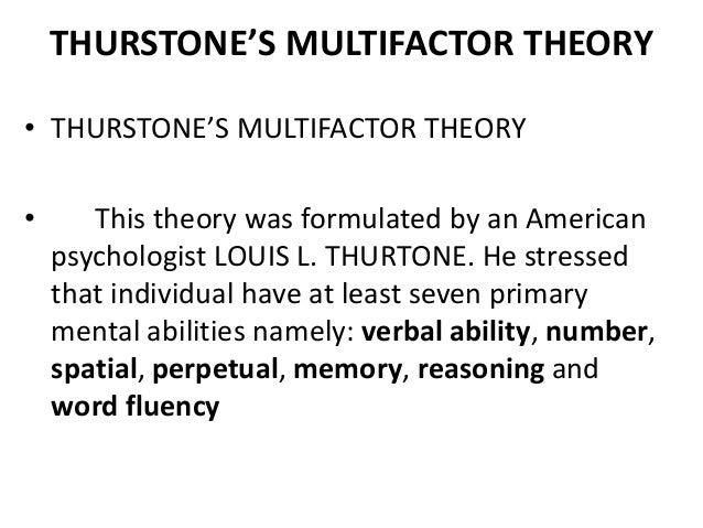 multifactor theory of intelligence pdf