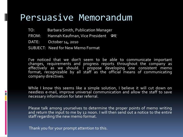 proper business memo format
