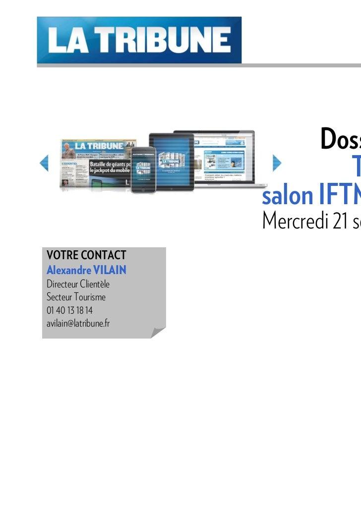 Dossier Spécial                                TOURISME                       salon IFTM Top Resa                       Me...
