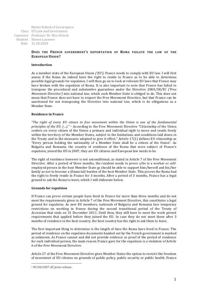 Hertie  School  of  Governance                     Class     U5  Law  and  Governance  ...