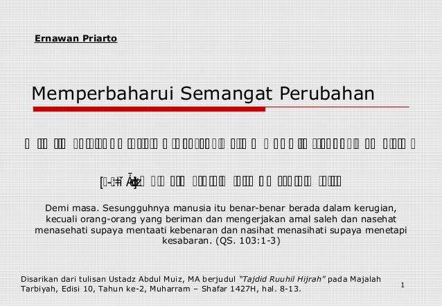 1 Memperbaharui Semangat Perubahan Ernawan Priarto          ...