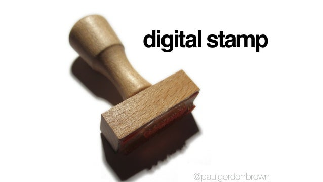 digital stamp @paulgordonbrown