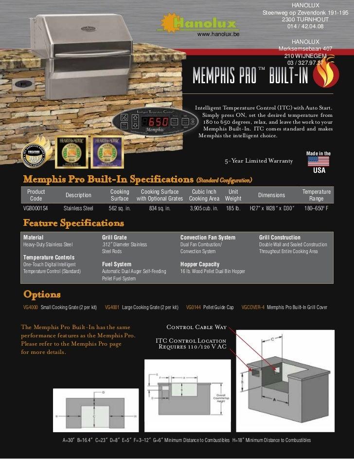 Memphis Pro Built In Pellet Barbecue