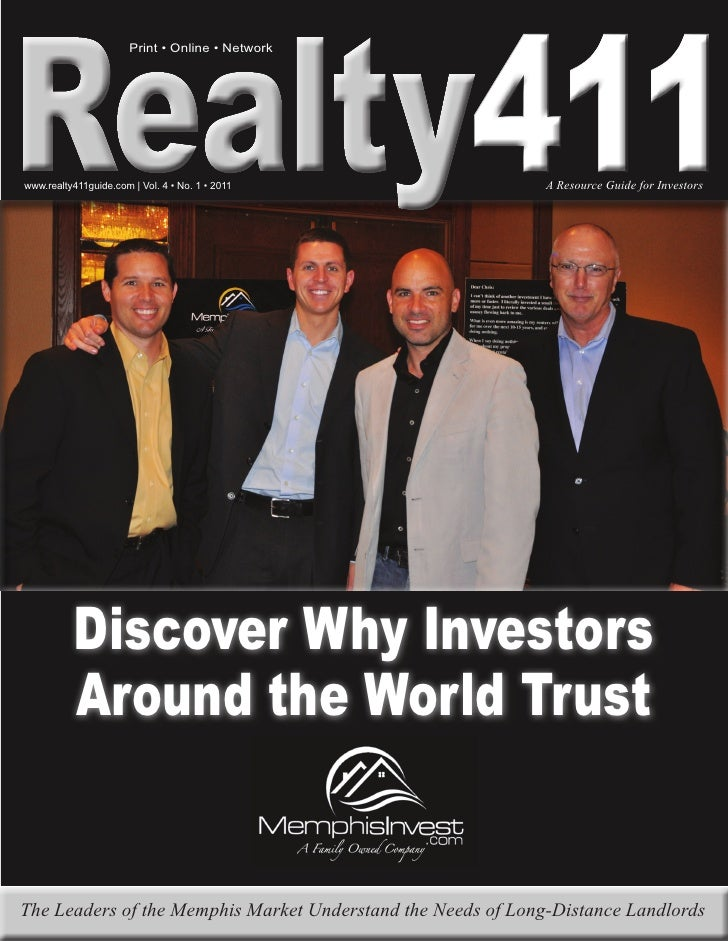 411                       Print • Online • Networkwww.realty411guide.com | Vol. 4 • No. 1 • 2011                A Resource...