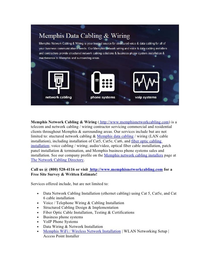 memphis_network_cabling_fiber_optic_services  slideshare