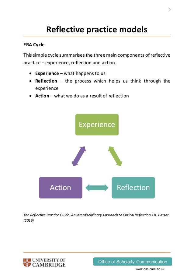 reflection surgery and reflective practice Various academics have touched on reflective practice and experiential learning to a greater or lesser extent over the years, including chris argyris (the person who coined the term 'double-loop learning' to explain the idea that reflection allows you to step outside the 'single loop' of 'experience, reflect, conceptualise, apply .