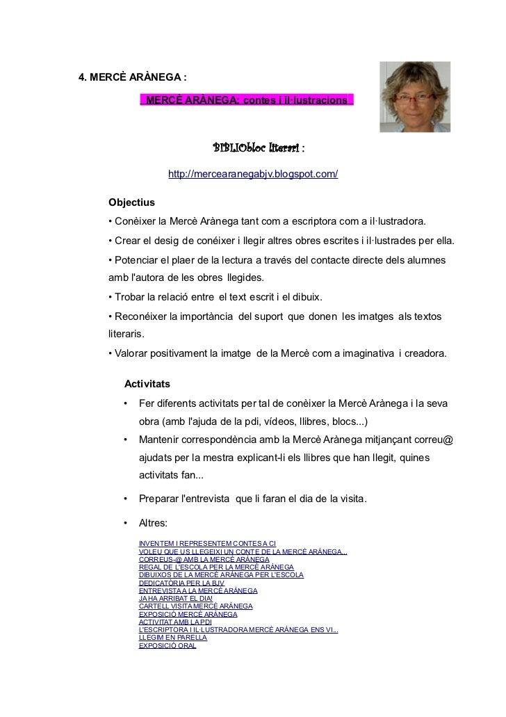 4. MERCÈ ARÀNEGA :                  MERCÈ ARÀNEGA: contes i il·lustracions s                                 BIBLIObloc li...