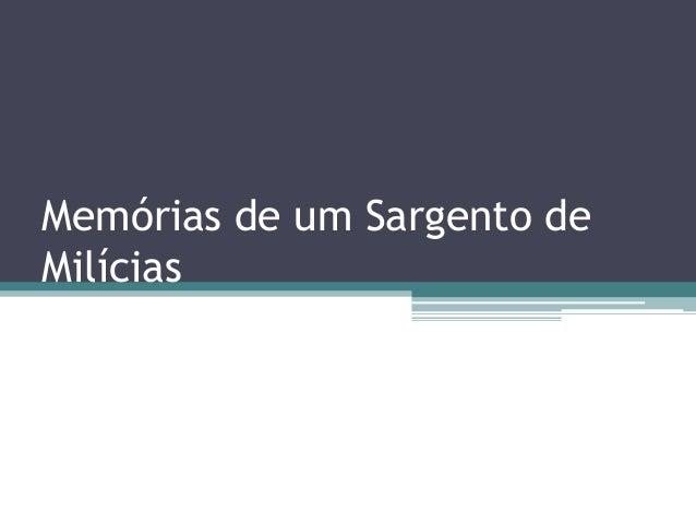 Memórias de um Sargento deMilícias