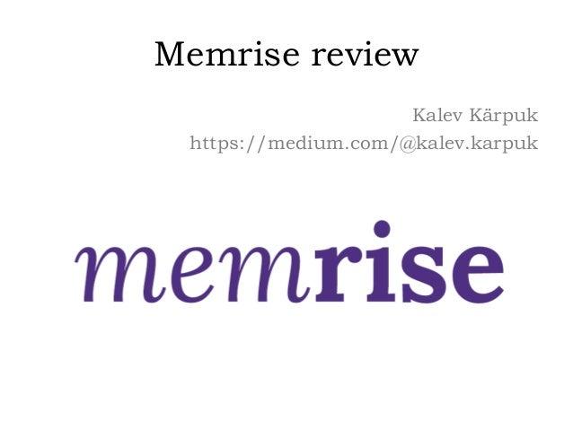 Memrise review Kalev Kärpuk https://medium.com/@kalev.karpuk
