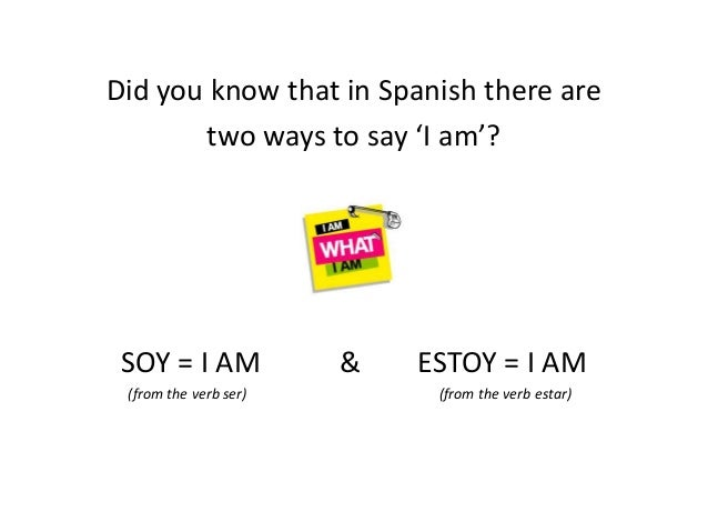 Spanish Ser Vs Estar Beginners Lesson 1 By Marie Claire