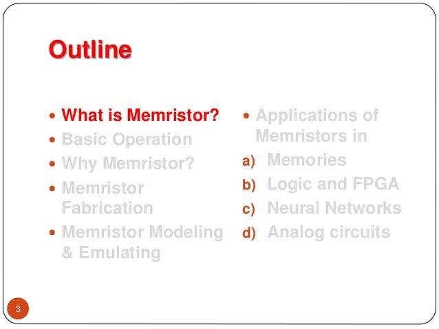 Memristor overview