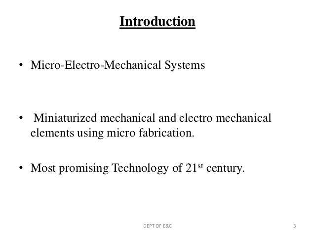Mems technology ppt Slide 3