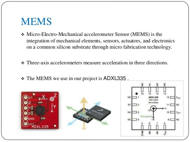 Mems Based Hand Gesture Controlled Robot