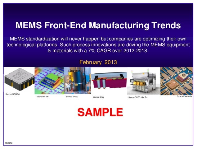 MEMS Front-End Manufacturing Trends   MEMS standardization will never happen but companies are optimizing their own techno...