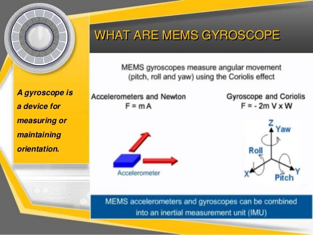 Mems gyroscope working, principle of operation of disc resonator gyroscope Slide 2