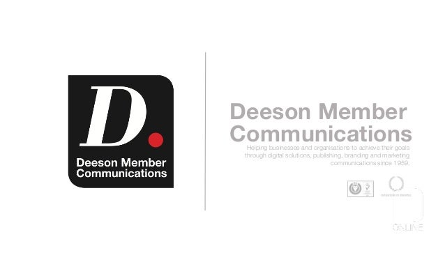 Deeson Member CommunicationsHelping businesses and organisations to achieve their goals through digital solutions, publish...