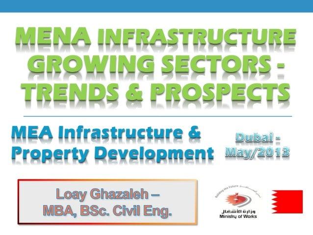 MENA INFRASTRUCTURE GROWING SECTORS - TRENDS & PROSPECTS MEA Infrastructure & Property Development