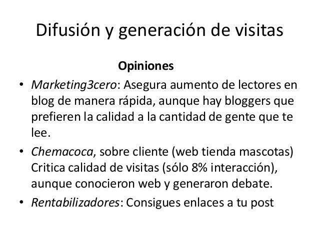 Difusión y generación de visitas Opiniones • Marketing3cero: Asegura aumento de lectores en blog de manera rápida, aunque ...