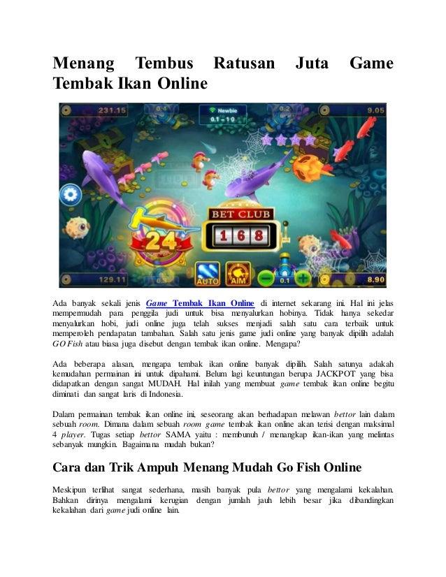 Menang Tembus Ratusan Juta Game Tembak Ikan Online