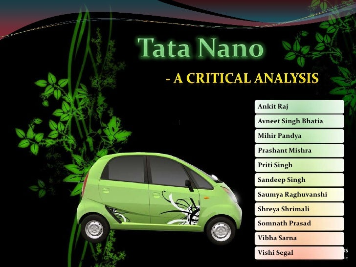 Tata Nano<br />- A Critical Analysis<br />