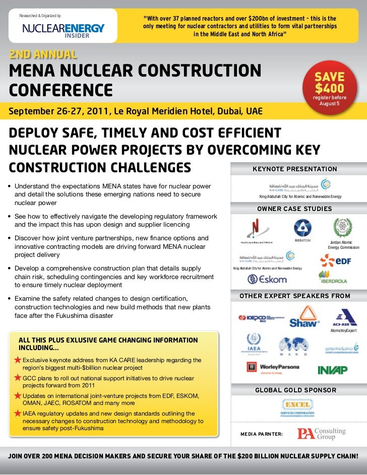 """Researched & Organized by:                                                  """"With over 37 planned reactors and over $200bn..."""