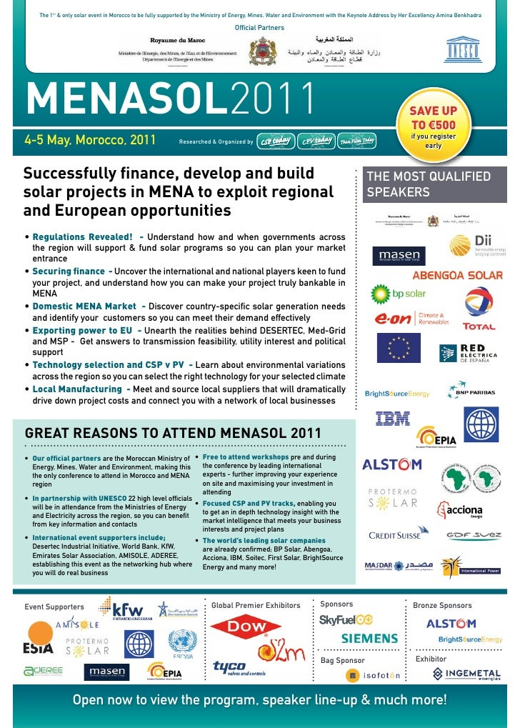 the 1st & only solar event in Morocco to be fully supported by the Ministry of energy, Mines, Water and environment with t...