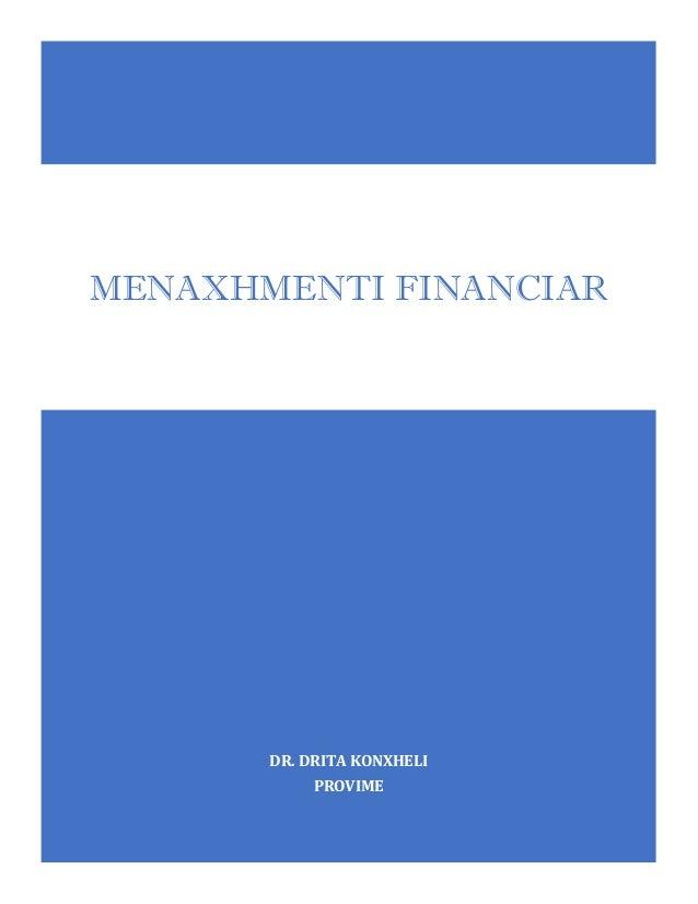 DR. DRITA KONXHELI PROVIME MENAXHMENTI FINANCIAR