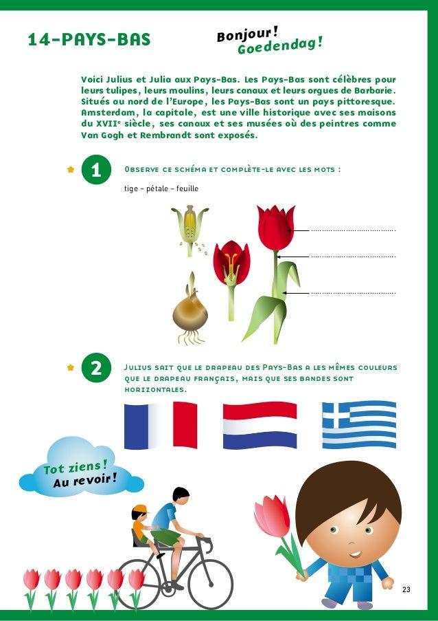 Voici Julius et Julia aux Pays-Bas. Les Pays-Bas sont célèbres pourleurs tulipes, leurs moulins, leurs canaux et leurs org...