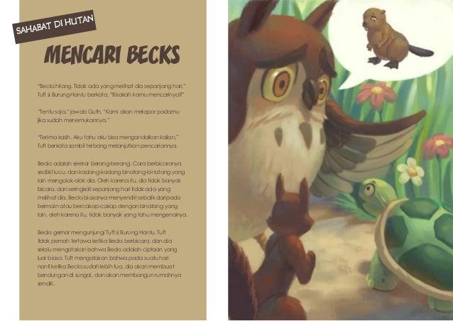 """Mencari Becks """"Becks hilang. Tidak ada yang melihat dia sepanjang hari,"""" Tuft si Burung Hantu berkata. """"Bisakah kamu menca..."""