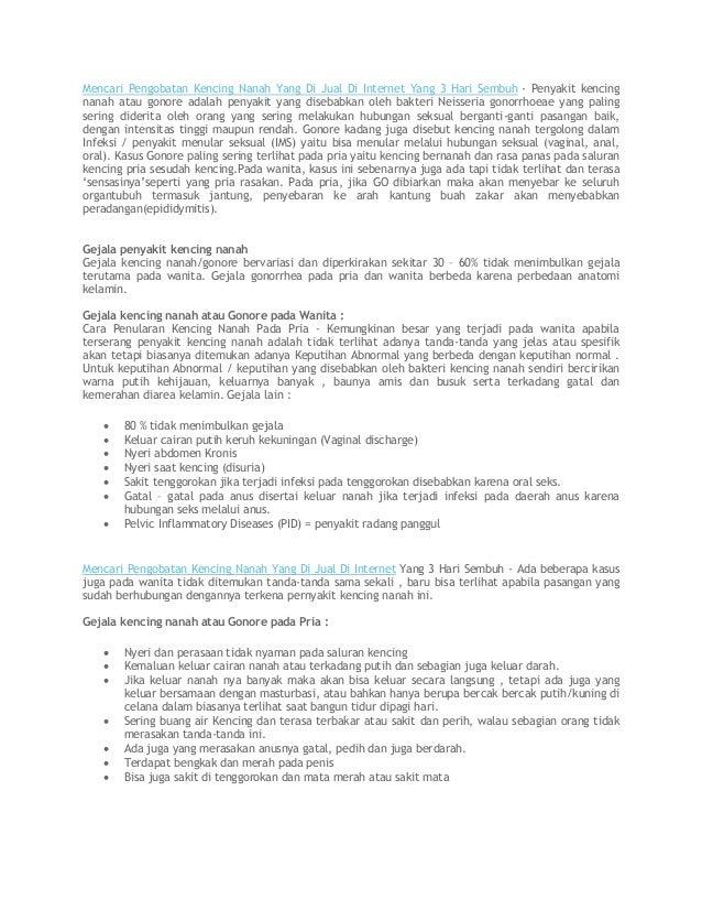 Mencari Pengobatan Kencing Nanah Yang Di Jual Di Internet Yang 3 Hari Sembuh - Penyakit kencing nanah atau gonore adalah p...