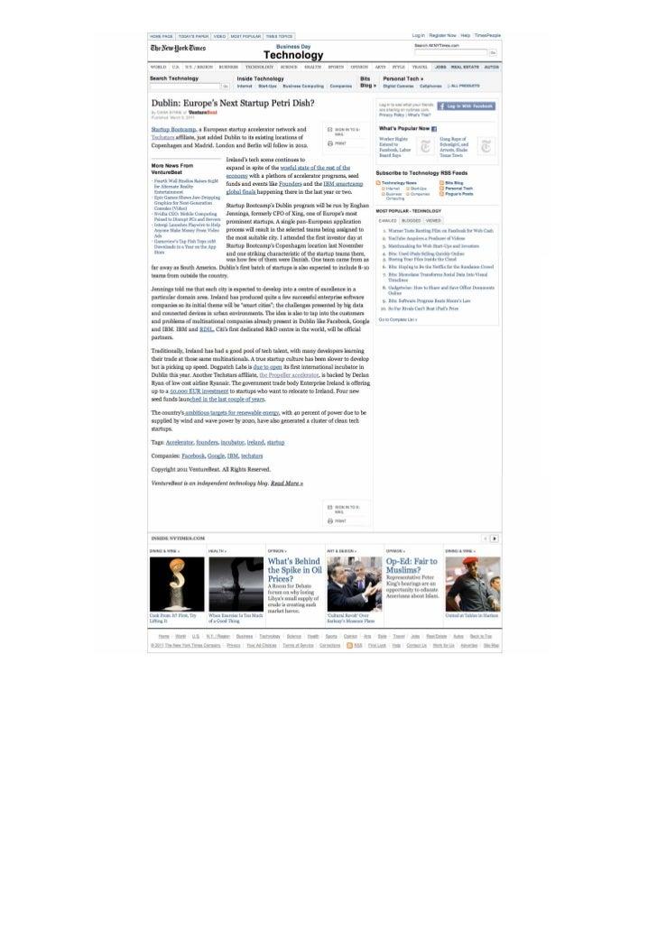 Okuri Ventures & Tetuan Valley - Menciones en medios Mar2011