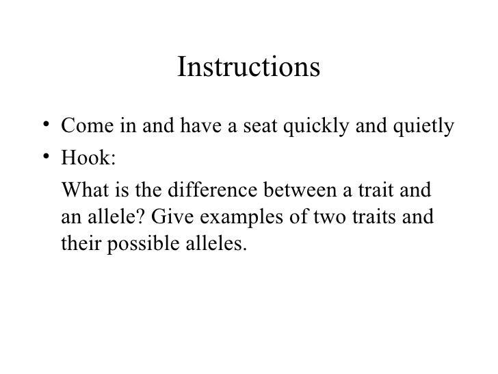 Instructions <ul><li>Come in and have a seat quickly and quietly </li></ul><ul><li>Hook: </li></ul><ul><li>What is the dif...
