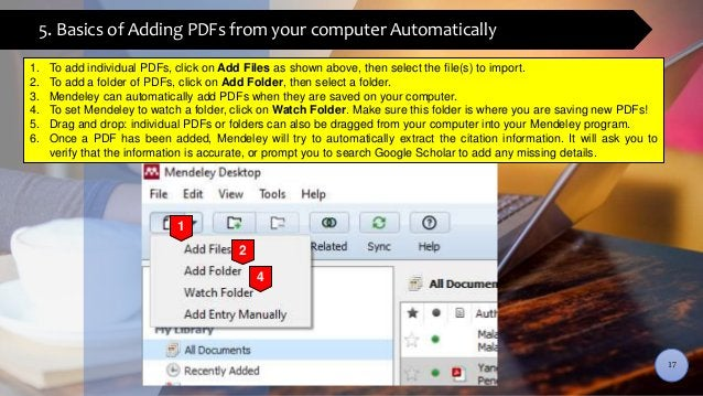 5. Basics of Adding PDFs from your computer Automatically 1. To add individual PDFs, click on Add Files as shown above, th...