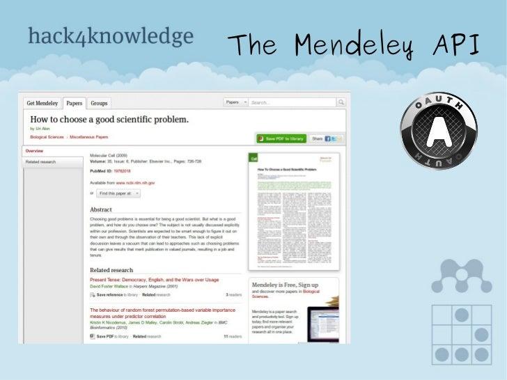 The Mendeley API