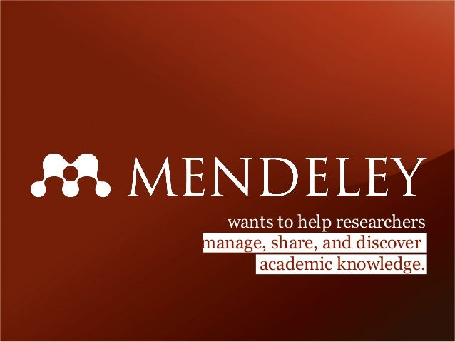 wants to help researchers manage, share, and discover academic knowledge.