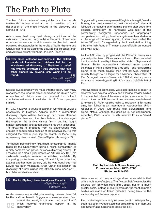 Pluto research paper