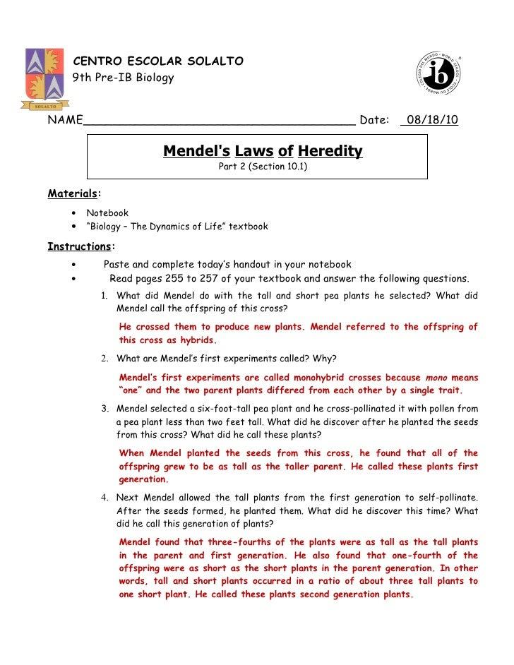 Worksheets Mendel And Meiosis Worksheet Answers mendel and meiosis worksheet answers photos pigmu mendels laws of heredity part 2 pp 255 257 answer